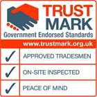 An image of the Trust Mark logo that certifie that Williams Windows adheres to Government Endorsed Standards